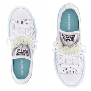 Converse Chuck White Perforated Sneaker Sz 13.5